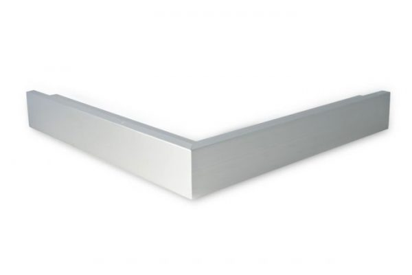 De buitenhoek heeft twee gelijke zijdes met elk een lengte van 500 mm